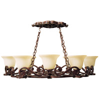 Toscana 8 Light 42 inch Peruvian Bronze Pot Rack Ceiling Light