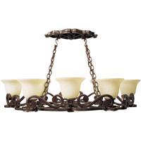 Craftmade 9138PR8 Toscana 8 Light 42 inch Peruvian Bronze Pot Rack Ceiling Light
