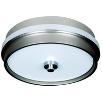 Jeremiah by Craftmade 5th Avenue 3 Light Flushmount in Brushed Nickel and Chrome 9513BNCH3