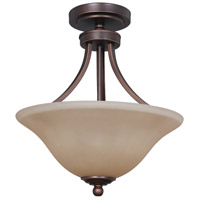Jeremiah by Craftmade Portia 2 Light Convertible Semi-Flush Pendant in Metropolitan Bronze 9816MB2
