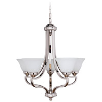 Jeremiah by Craftmade Portia Up-Light 5 Light Chandelier in Polished Nickel 9827PLN5