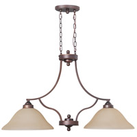 Jeremiah by Craftmade Portia 2 Light Island Pendant in Metropolitan Bronze 9834MB2