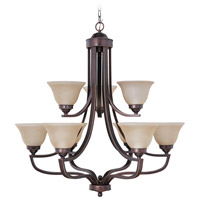 Jeremiah by Craftmade Portia 9 Light Chandelier in Metropolitan Bronze 9835MB9