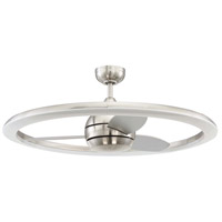 Anillo 36 inch Brushed Polished Nickel with Brushed Nickel Blades Indoor Ceiling Fan, Blades Included