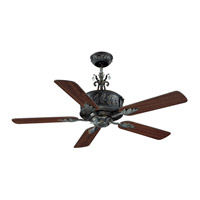 Antoinette 54 inch Antique Verde Aged Cherry and Walnut Indoor Ceiling Fan
