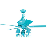 Craftmade ANT54TQ5WCR Antoinette 54 inch Turquoise Ceiling Fan, Blades Included