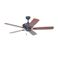 Anvil 52 inch Aged Bronze with Classic Walnut/Walnut Blades Ceiling Fan with Blades Included in Matte Opal Glass