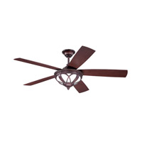 Ellington by Craftmade Artesia 3 Light 52-inch Outdoor Ceiling Fan in Oiled Bronze with Dark Walnut Blades ART52OB5