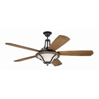 Craftmade Ashwood 3 Light Ceiling Fan with Blades Included in Textured Black & Whiskey Barrel ASH60TBWB5
