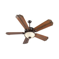 Craftmade K11171 American Tradition 52 inch Oiled Bronze with Oak with Aged Bronze Accents Blades Ceiling Fan With Blades Included in Antique Scavo