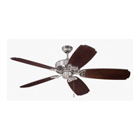 Craftmade American Tradition Ceiling Fan in Stainless Steel with Walnut Blades K11198