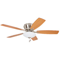 Atmos 52 inch Brushed Polished Nickel with Golden Maple Blades Ceiling Fan with Blades Included
