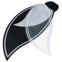 Bloom Black/Silver 28 inch Set of 10 Fan Blades in Translucent Black
