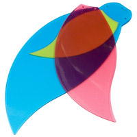 Bloom Teal/Green and Cherry 28 inch Set of 10 Fan Blades in Candy
