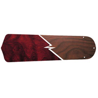 Craftmade BELN52-RWWN Contractors Standard Rosewood and Walnut Set of 5 Fan Blades in Rosewood/Walnut Type 5