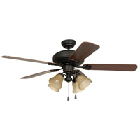 Craftmade BFT52ABZ5C Beaufort 52 inch Aged Bronze Brushed with Reversible Dark Oak and Mahogany Blades Ceiling Fan, Blades Included