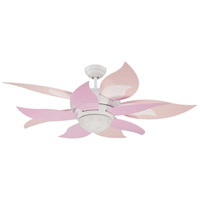 Craftmade BBL52-PNK Bloom Pink/White and Pink 28 inch Set of 10 Fan Blades alternative photo thumbnail