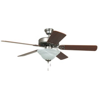 Craftmade BLD52AN5C1 Builder Deluxe 52 inch Antique Nickel with Reversible Ash and Mahogany Blades Ceiling Fan, Blades Included