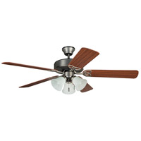 Craftmade BLD52AN5C3 Builder Deluxe 52 inch Antique Nickel with Reversible Ash and Mahogany Blades Ceiling Fan in 3, Blades Included