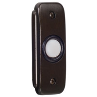 Stepped Rectangle Bronze Lighted Push Button