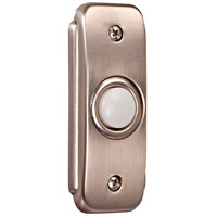 Stepped Rectangle Pewter Lighted Push Button