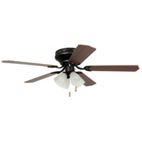 Brilliante 52 inch Oil Rubbed Bronze with Cherry and Mahogany Blades Indoor Ceiling Fan in 4, White Frosted Glass