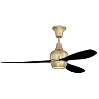 Craftmade BRD52SB3-FB-UCI Bordeaux 52 inch Satin Brass with Flat Black Blades Ceiling Fan