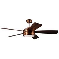 Craftmade BRX52BCP5 Braxton 52 inch Brushed Copper with Reversible Dark Cedar and Chestnut Blades Ceiling Fan, Blades Included