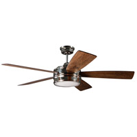 Craftmade BRX52PLN5 Braxton 52 inch Polished Nickel with Reversible Dark Cedar and Mesquite Blades Ceiling Fan, Blades Included