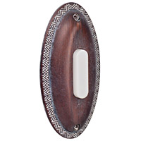 Craftmade Teiber Surface Mount Oval Ornate LED Lighted Pushbutton in Rustic Brick BSOVL-RB