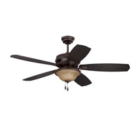 Ellington by Craftmade Brantley 2 Light Ceiling Fan With Blades Included in Aged Bronze Gilded BTY52ABZC5