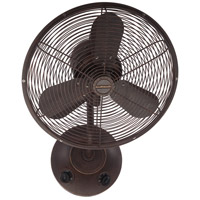 Craftmade BW116AG3 Bellows I 21 inch Aged Bronze Textured Wall Fan in Plug-in, Blades Included