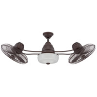 Bellows II 48 inch Aged Bronze Textured with Aged Bronze Blades Ceiling Fan, Blades Included