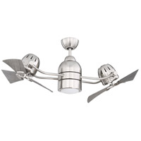 Craftmade BW250BNK6 Bellows Duo 50 inch Brushed Polished Nickel with Greywood Blades Indoor/Outdoor Ceiling Fan