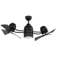 Craftmade BW250FB6 Bellows Duo 50 inch Flat Black with Grey Cedar Blades Indoor/Outdoor Ceiling Fan