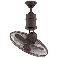 Craftmade BW321AG3 Bellows III 19 inch Aged Bronze Textured with Aged Bronze Blades Ceiling Fan, Blades Included