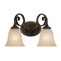 Craftmade 24202-MB Barrett Place 2 Light 15 inch Mocha Bronze Vanity Light Wall Light in Light Umber Etched alternative photo thumbnail