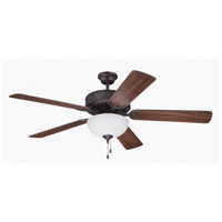 Craftmade Pro Builder 201 2 Light 52-inch Ceiling Fan (Blades Sold Separately) in Aged Bronze Brushed C201ABZ