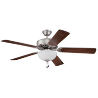 Craftmade Pro Builder 201 2 Light 52-inch Ceiling Fan (Blades Sold Separately) in Brushed Polished Nickel C201BNK
