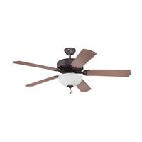 Pro Builder 201 52 inch Oiled Bronze with Washed Walnut Birch Blades Ceiling Fan in Contractor Standard