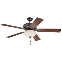 Craftmade K11201 Pro Builder 202 52 inch Aged Bronze Brushed with Walnut Blades Ceiling Fan Kit in Contractor Plus, Blades Included