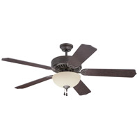 Craftmade Pro Builder 202 2 Light 52-inch Ceiling Fan (Blades Sold Separately) in Aged Bronze Textured C202AG