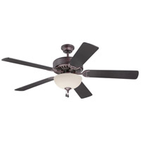 Craftmade K11049 Pro Builder 202 52 inch Oiled Bronze with Teak Blades Ceiling Fan With Blades Included in Contractor Teak