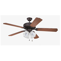 Craftmade Pro Builder 203 4 Light 52-inch Ceiling Fan (Blades Sold Separately) in Aged Bronze Brushed C203ABZ