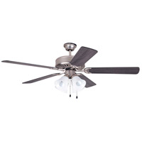 Craftmade Pro Builder 203 4 Light 52-inch Ceiling Fan (Blades Sold Separately) in Brushed Satin Nickel C203BN