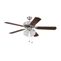 Craftmade Pro Builder 203 4 Light 52-inch Ceiling Fan (Blades Sold Separately) in Brushed Polished Nickel C203BNK
