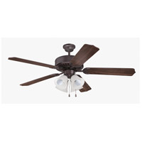 Craftmade Pro Builder 203 4 Light 52-inch Ceiling Fan (Blades Sold Separately) in Oiled Bronze C203OB