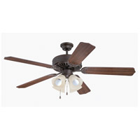 Craftmade Pro Builder 204 4 Light 52-inch Ceiling Fan (Blades Sold Separately) in Aged Bronze Textured C204AG