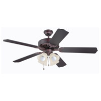 Craftmade Pro Builder 204 4 Light 52-inch Ceiling Fan (Blades Sold Separately) in Oiled Bronze C204OB
