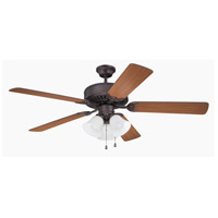Pro Builder 205 52 inch Aged Bronze Brushed with Teak Blades Ceiling Fan in Contractor Plus
